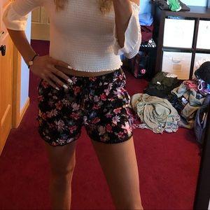 flowy flowery shorts